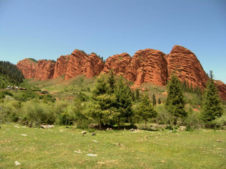 Jeti Ögus mountains in Kyrgyzstan