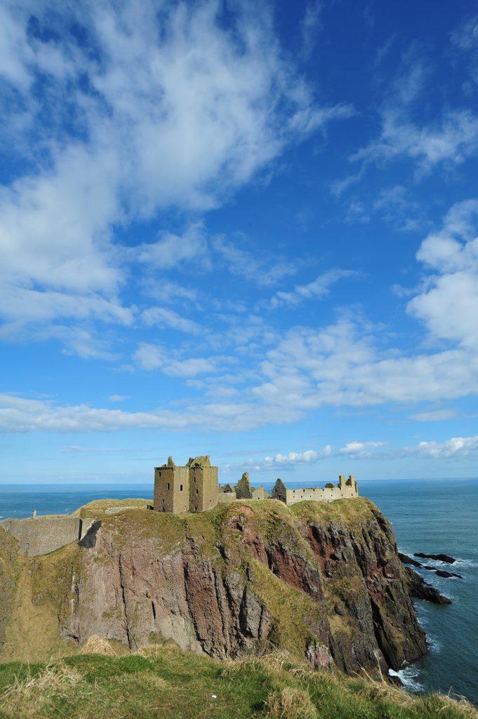 Dunnottar Castle near Aberdeen in Scotland.