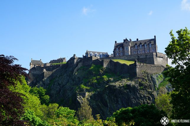 Edinburgh Castle in Edinburg Scotland