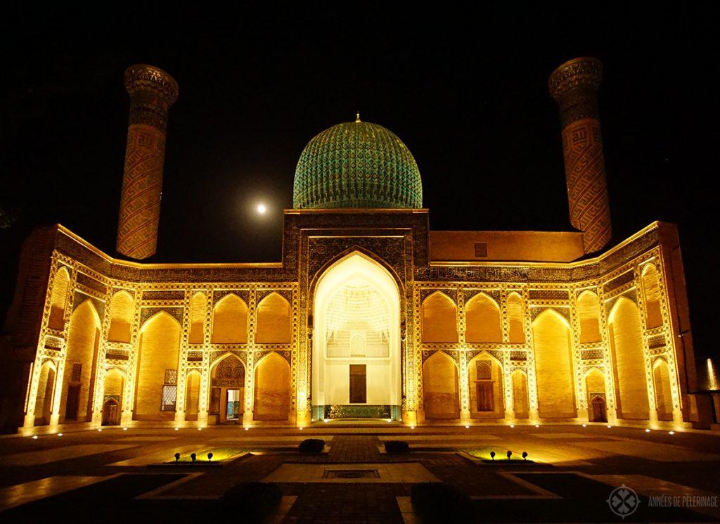 Gur-e-Amir Mausoleum Samarkand at night