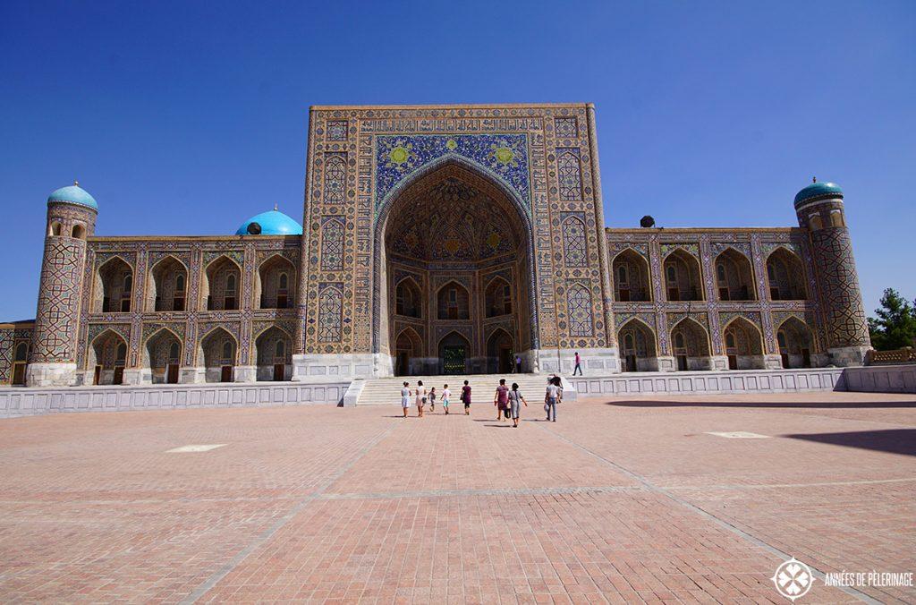 The Tilya-Kori Madrasah in Samarkand, Uzbekistan