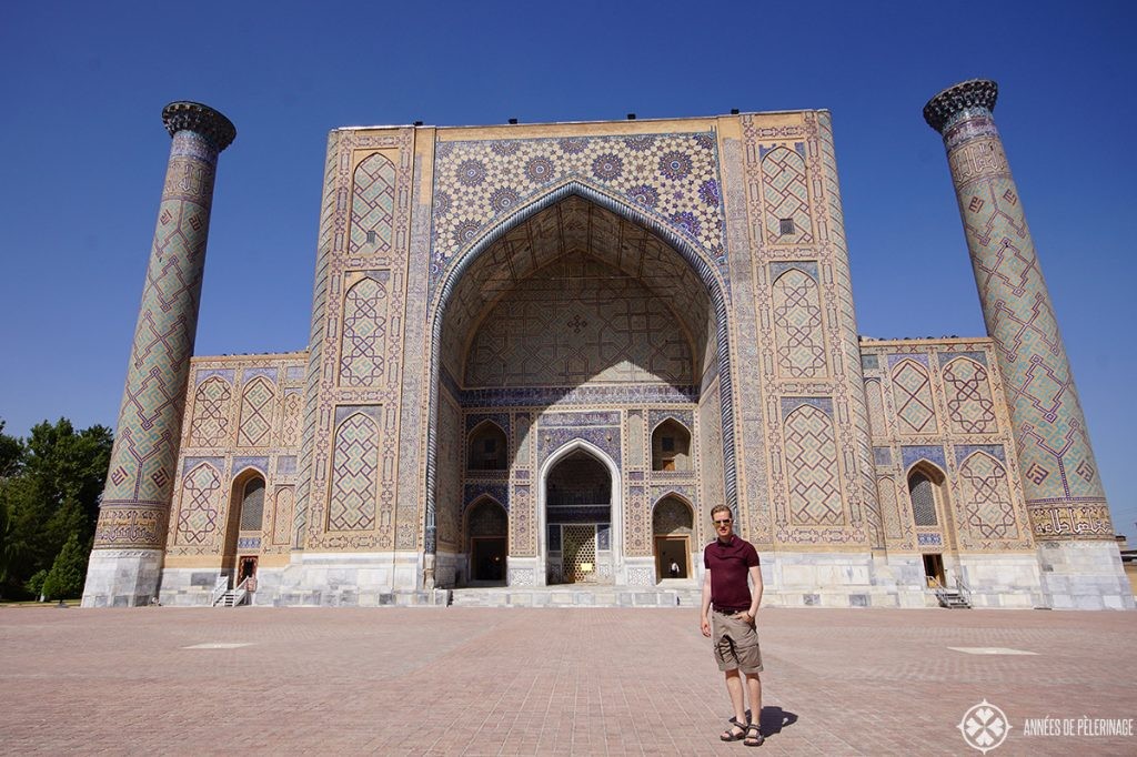 The Ulugh Beg Madrasah Samarkand Uzbekistan is part of the Registan Ensemble and should be high on your list of things to do in Samarkand