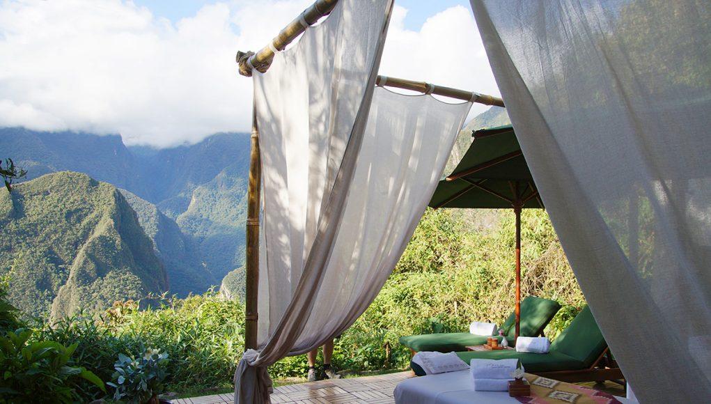 The spa of the Belmond Sanctuary lodge luxury hotel in Peru, Machu Picchu