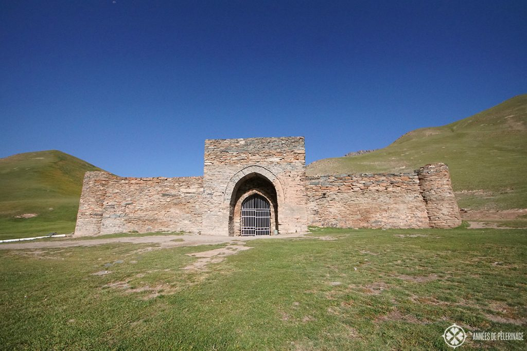 The front of the Tash Rabat Silk Road caravanserai in Kyrgyzstan