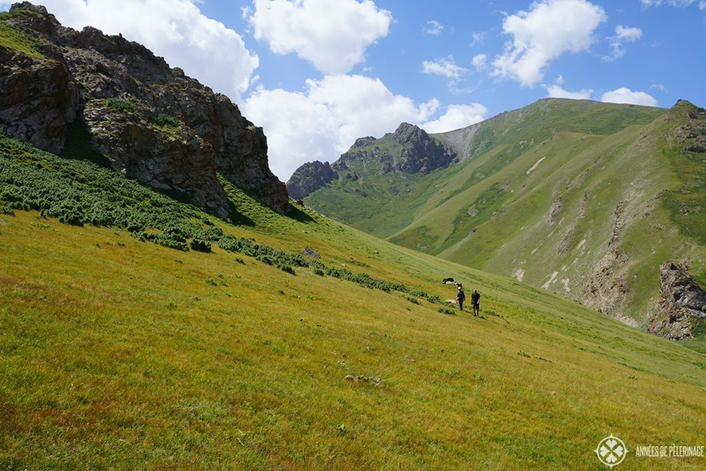 Hiking in the beautiful mountains of Kyrgyzstan