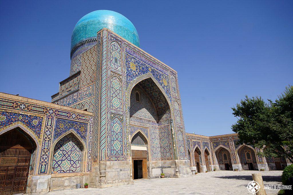 The mosque inside Tilya-Kori Madrasah Samarkand