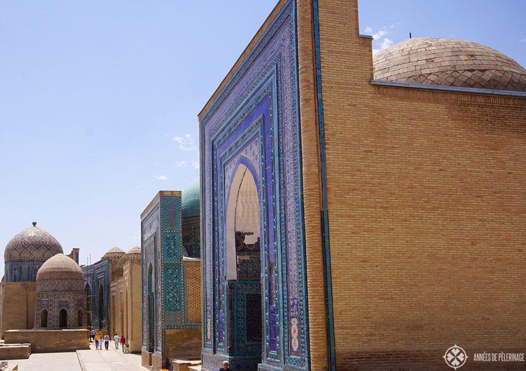 The impressive Shah-i-Zinda necropolis in Samarkand, Uzbekistan