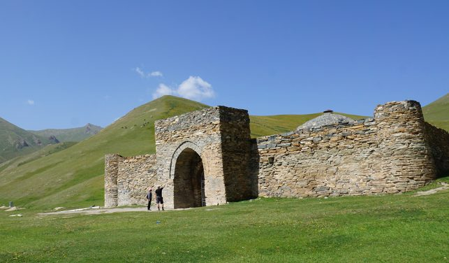 The Silk Road caravanserai Tash-Rabat close to the board to china in Kyrgyzstan