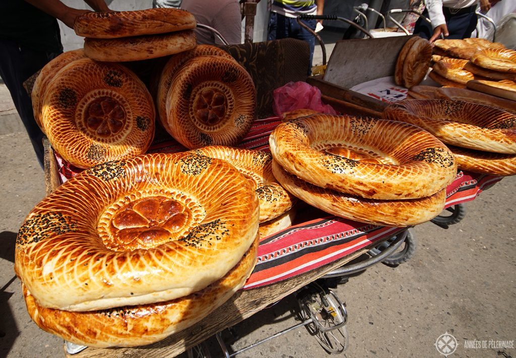 You have not seen Samarkand if you have not sampled the Uzbek bread on the Bazar