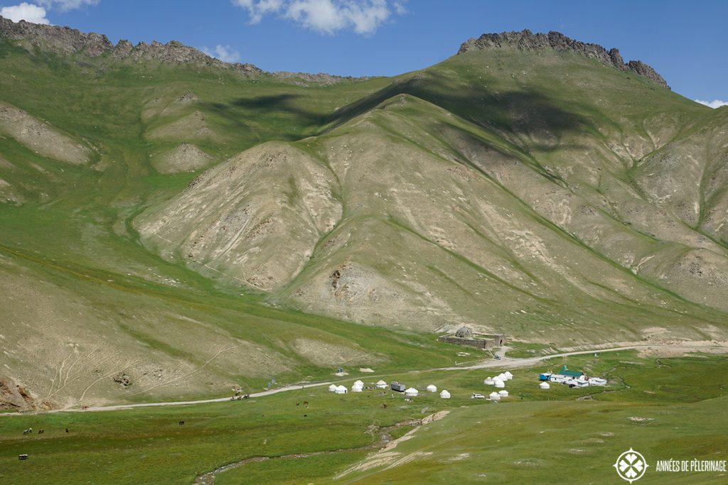The caravanserai of Tash Rabat nestled in the beautiful At Bashy valley in Kyrgyzstan