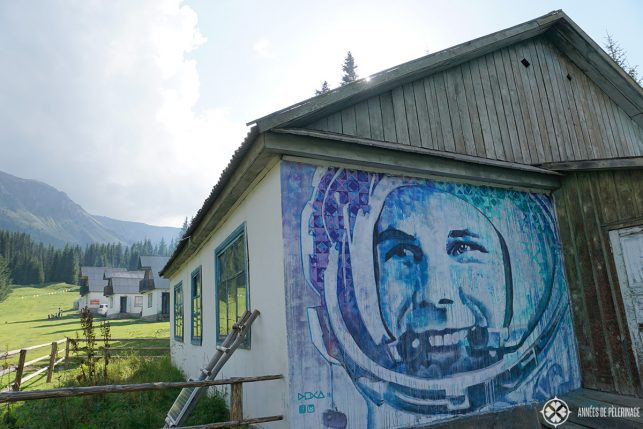 The former house of yuri gagarin near Jetti Ogus in Kyrgyzstan.
