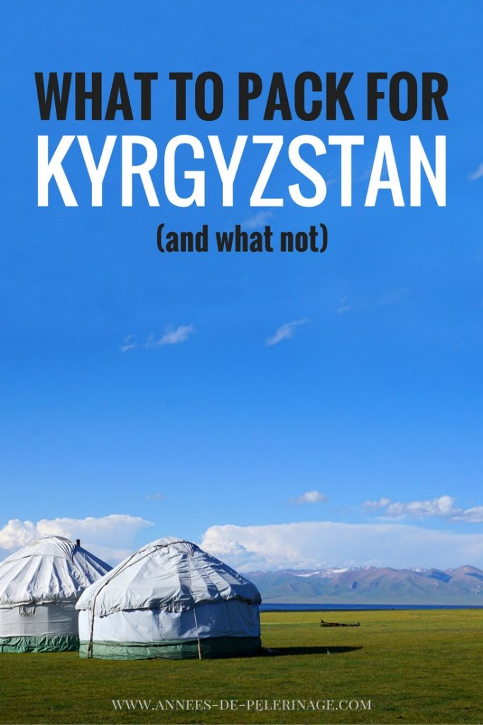 What to pack for Kyrgyzstan - a detailed packing list with all the items you need for your travel to Kyrgyzstan