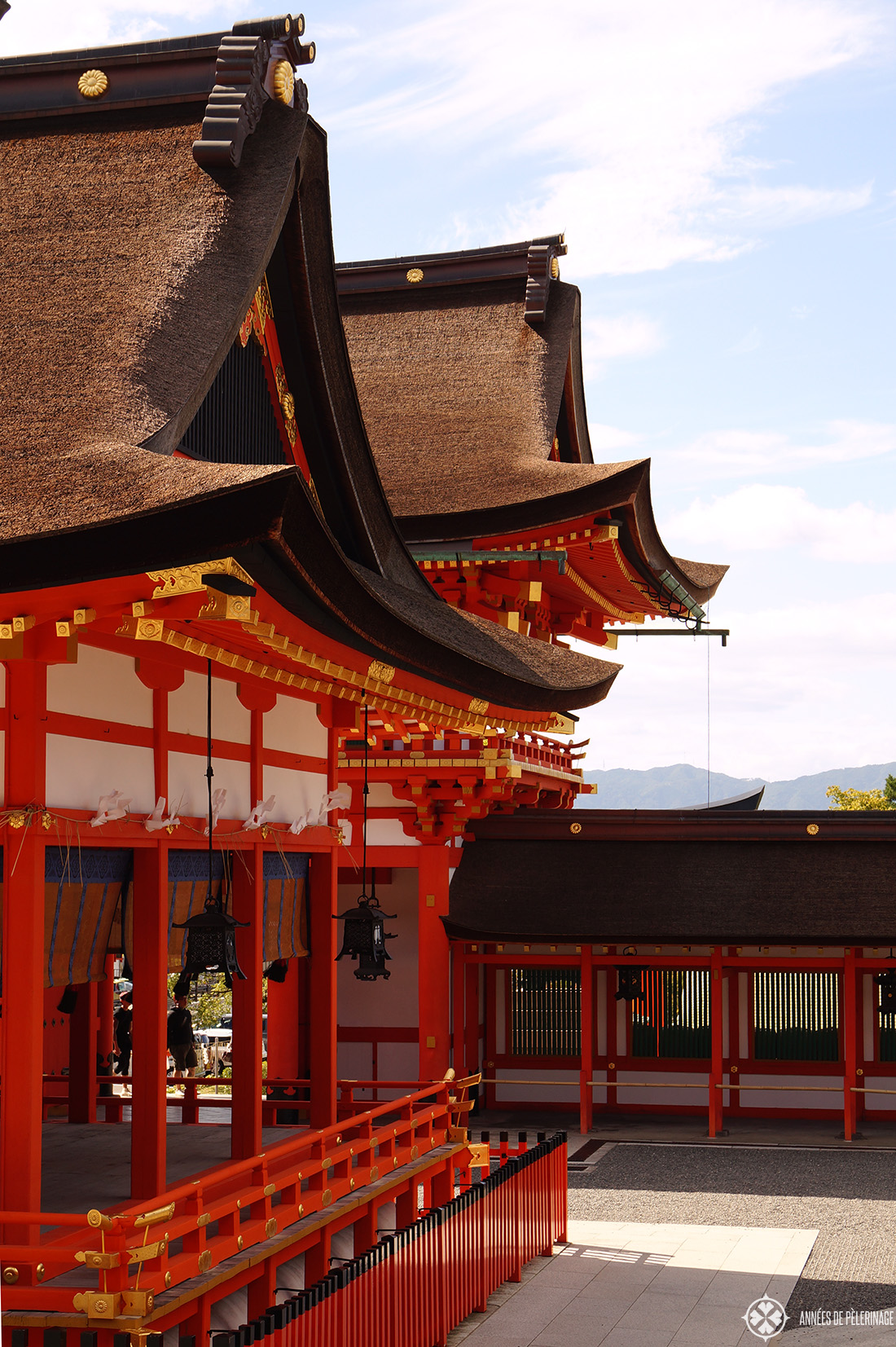 The main hall of the Fushimi Inari Taisha shrine in Kyoto