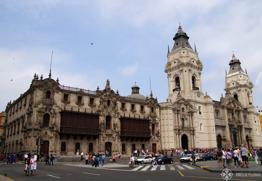 The archbishop palace in Lima, Peru