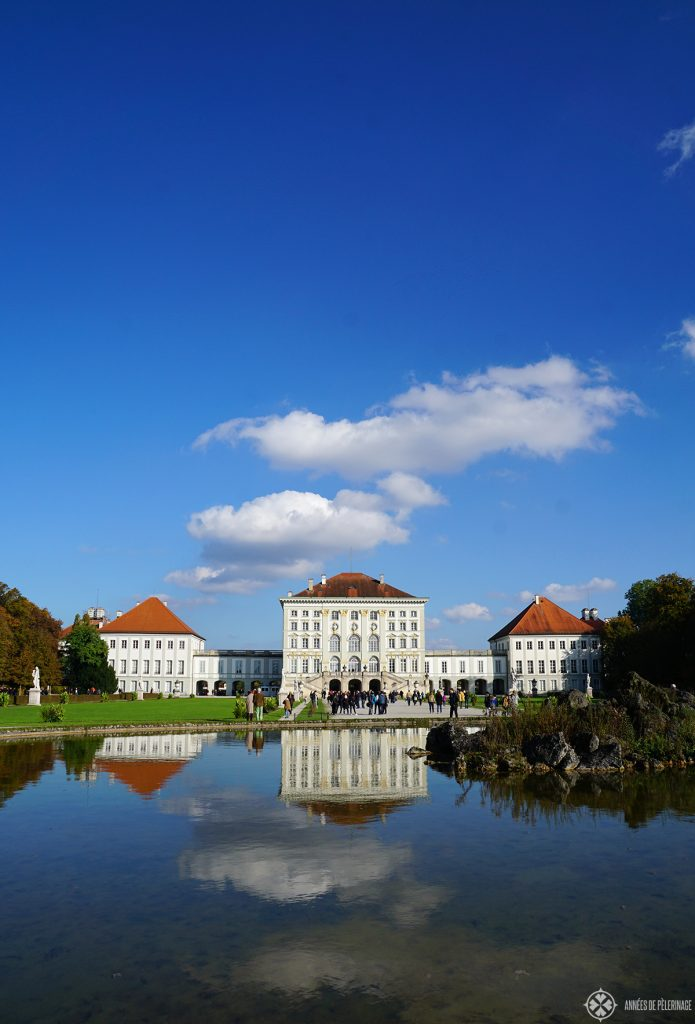 Castle Nymphenburg in Munich in fall.