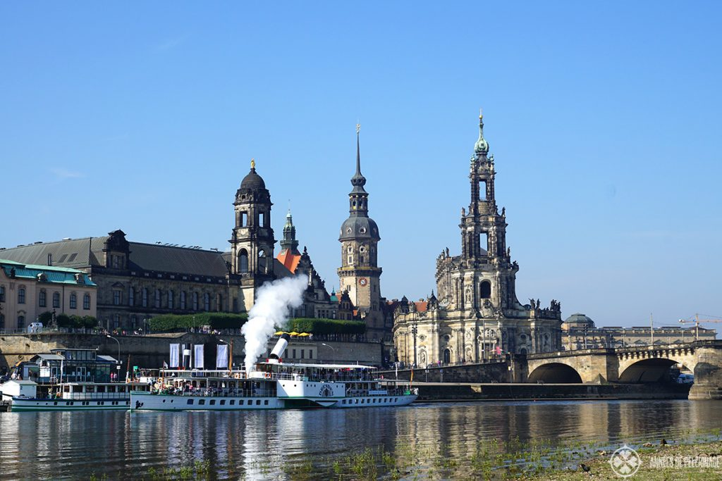The classic view of Dresden & Brühl's terrace
