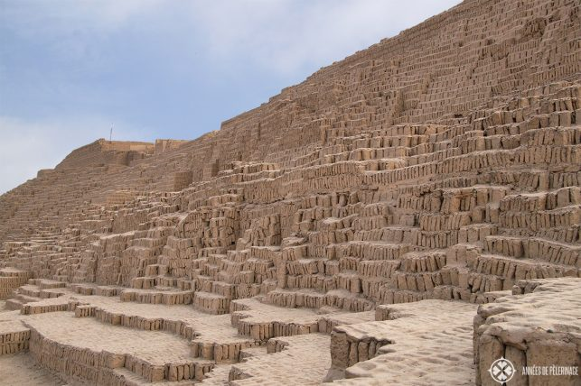 The ruins of Huaca Pucllana in Lima right in the middle of Miraflores