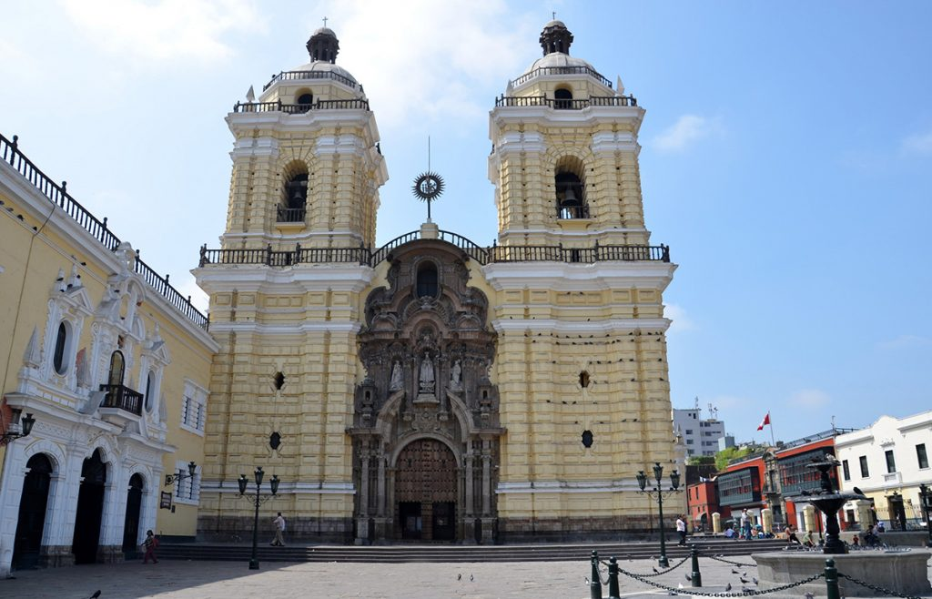 The Iglesia y convent de san francisco in Lima peru