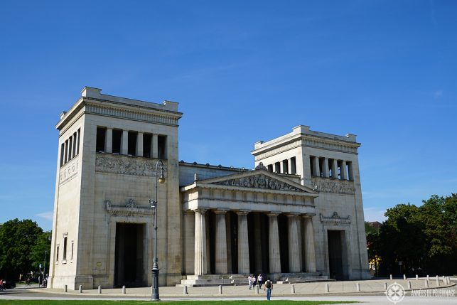 The Königsplatz in Munich. Most hop-on-bus tours come here as well.