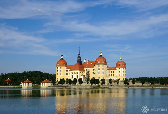 The Moritzburg water castle near dresden Germany. One of the most beautiful castles in the world