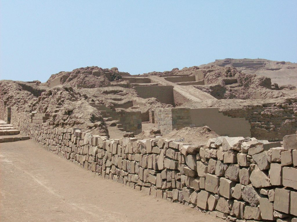 The Ruins of Pachacamac in Lima Peru