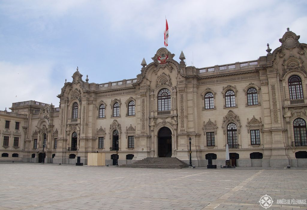 The presidental palace (Palacio de Gobierno) in Lima Peru