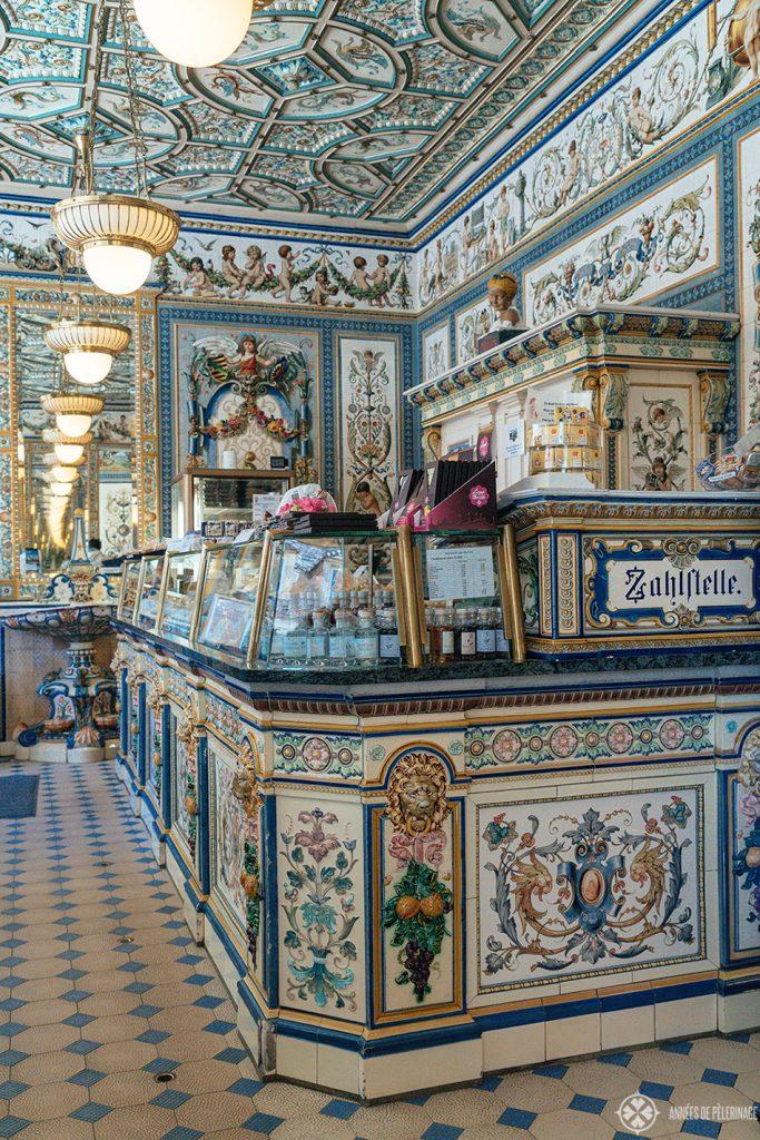 The Pfunds Molkerei dairy shop in the Dresden Neustadt