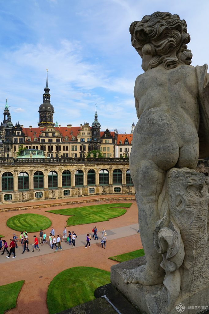 The view from the roof of the Zwinger Palace in Dresden, Germany