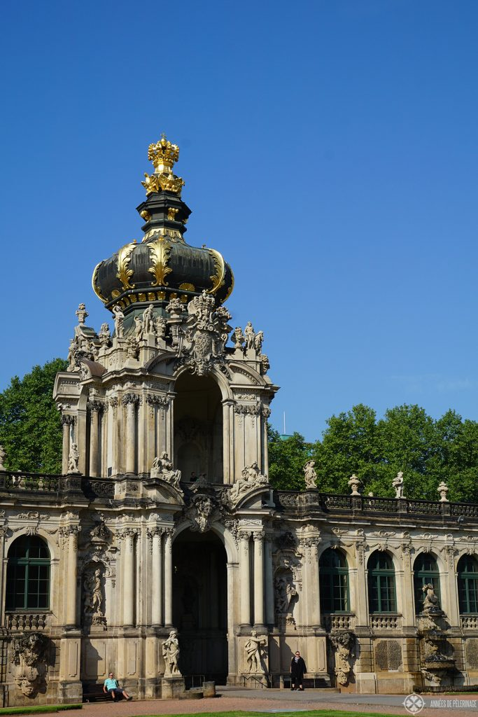 The cupola of the Zwinger palace in Dresden, Germany