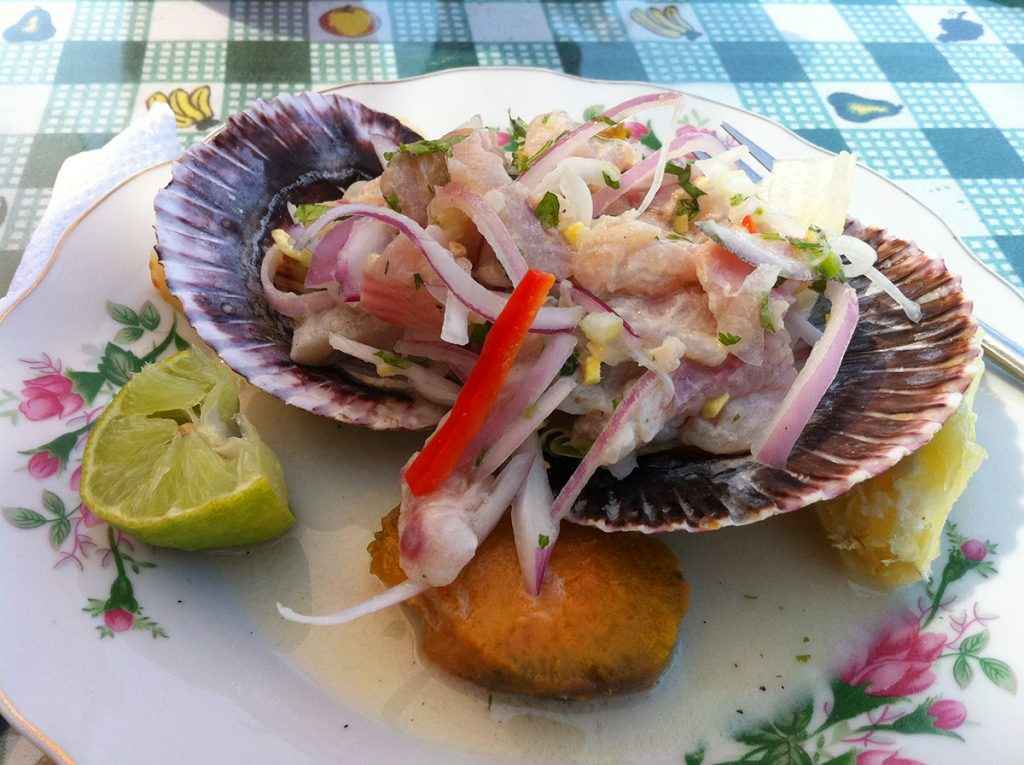 Traditional Ceviche in Lima, Peru
