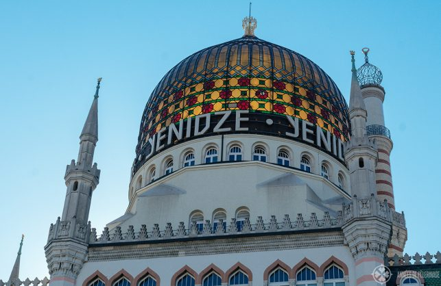 The stained glass cupola of the Yendize cigar factory where now you will find a famous restaurant and a roof top teracce