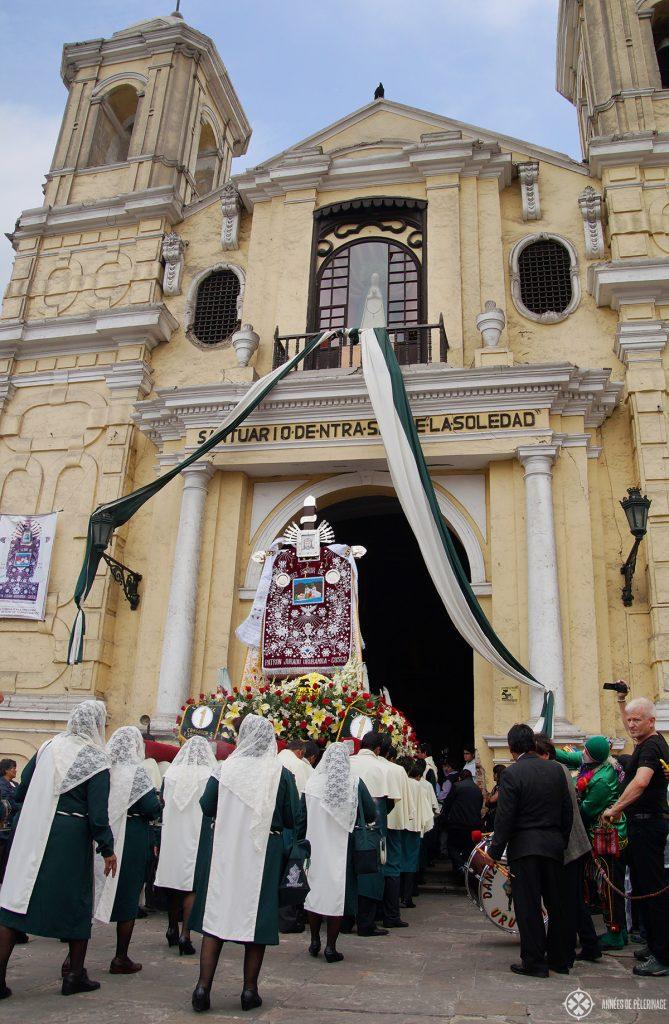 A religious festival in Lima, Peru
