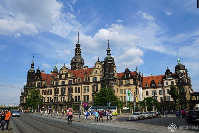 The Grünes Gewölbe art gallery in Dresden Germany. It is located inside the old castle of the King's of Saxony