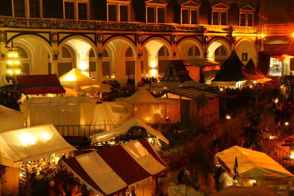 The historic christmas Market in Dresden