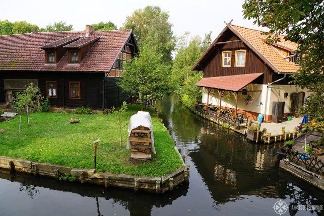 THe museum town of Lehde inside the Spreewald near Lübbenau