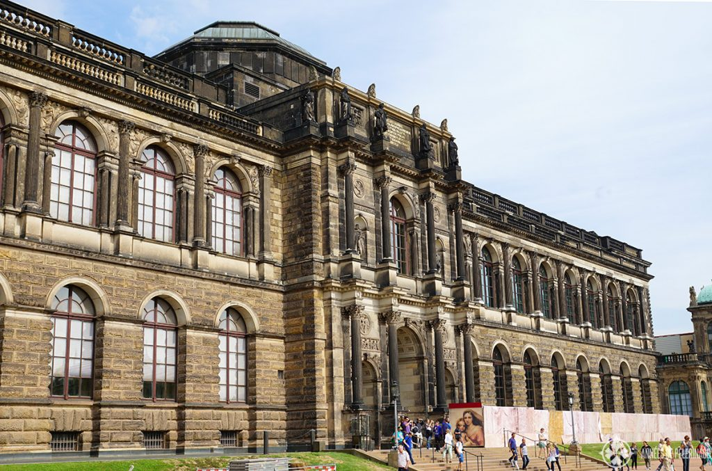 The building of the Old Masters Picture Gallery in Dresden Germany