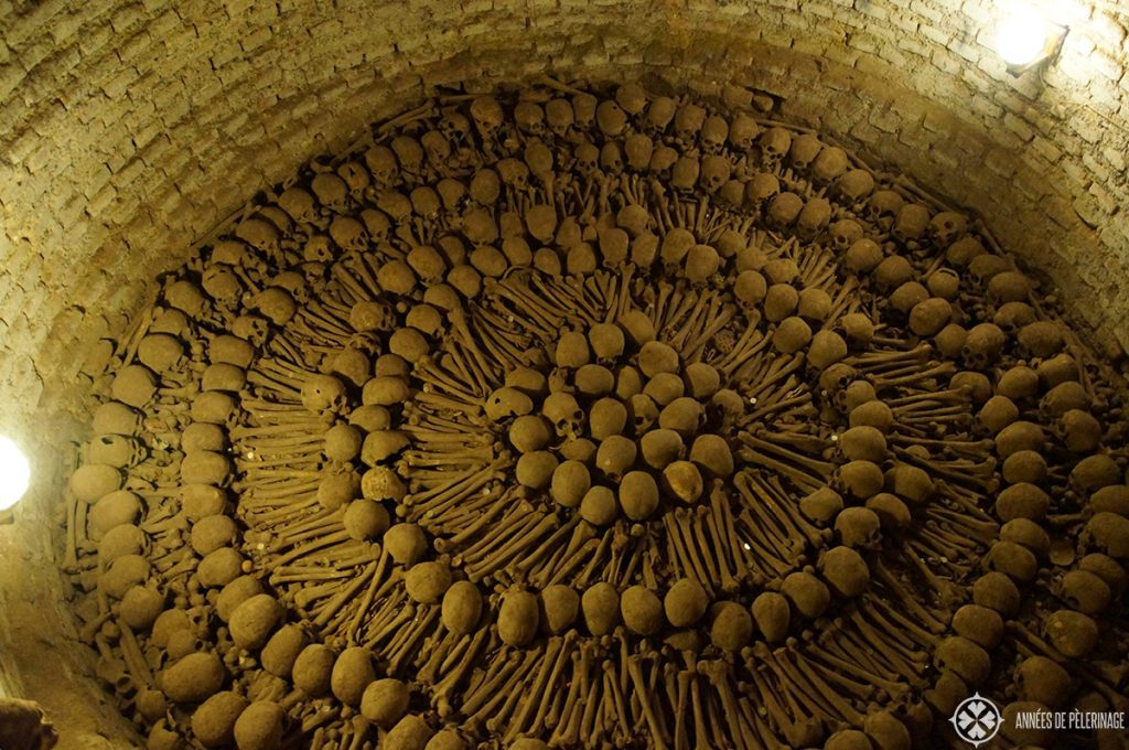 The ossuary at the Iglesia y convent de San francisco in Lima peru