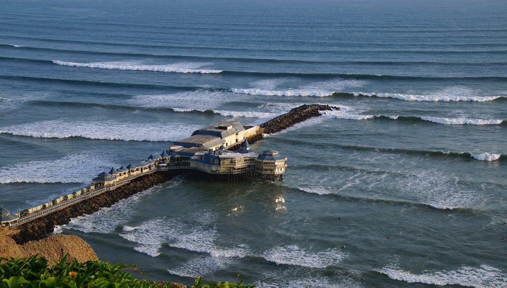 The pier of Miraflores in Lima Peru