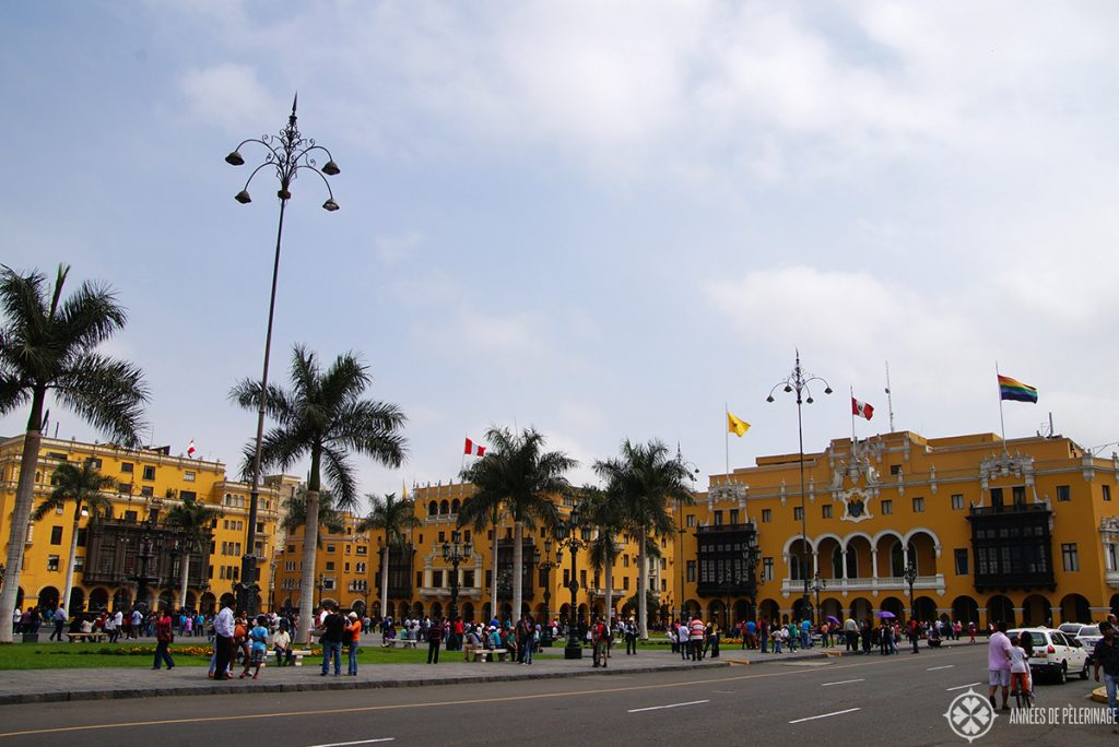 The Plaza de Armas in Lima, Peru - the central square