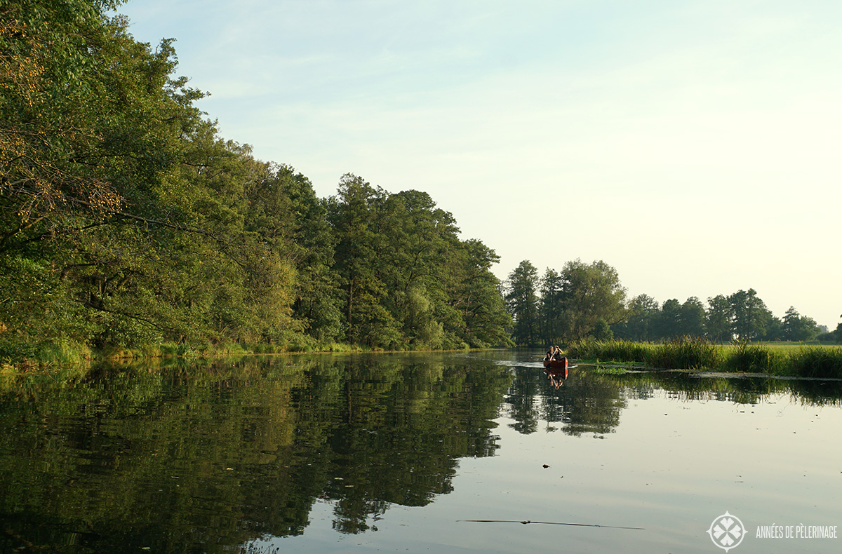 A spreewald canoe tour in Lübben, Germany