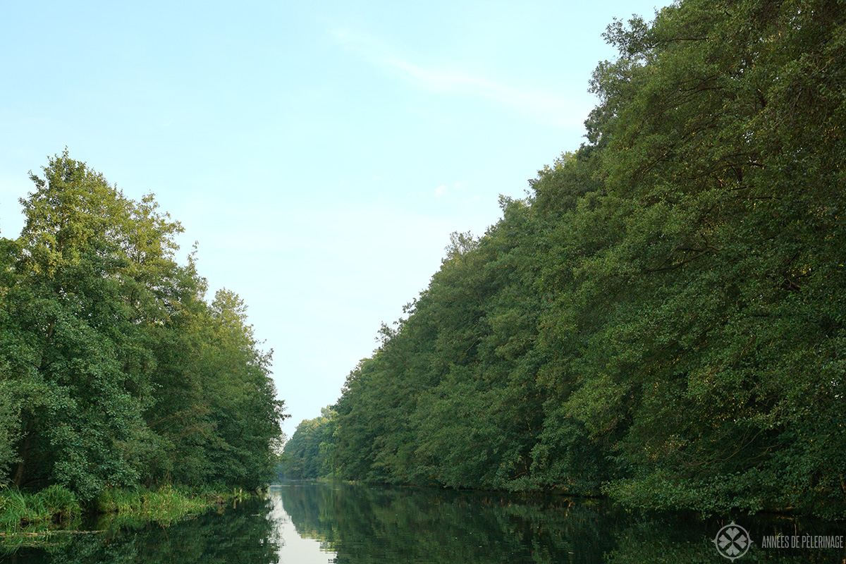 Exploring the Spreewald forest and its waterway on a canoe