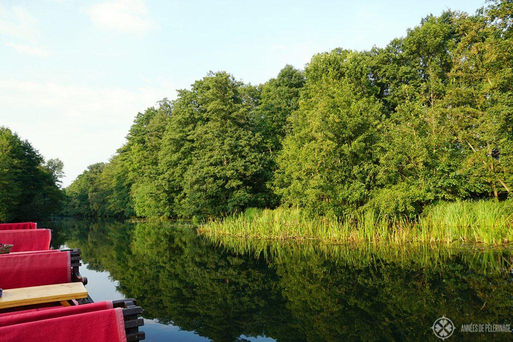 Enjoying the spreewald nature reserve on a boat tour around Lübben