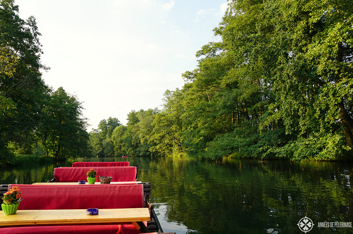 Aboard a private boat tour in Lübben, Spreewald, Germany