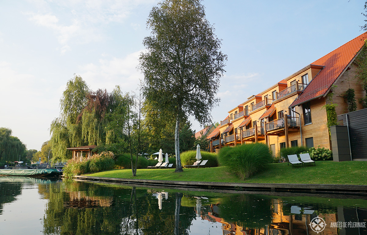 The luxury hotel Strandhotel in Lübben, Spreewald, Germany