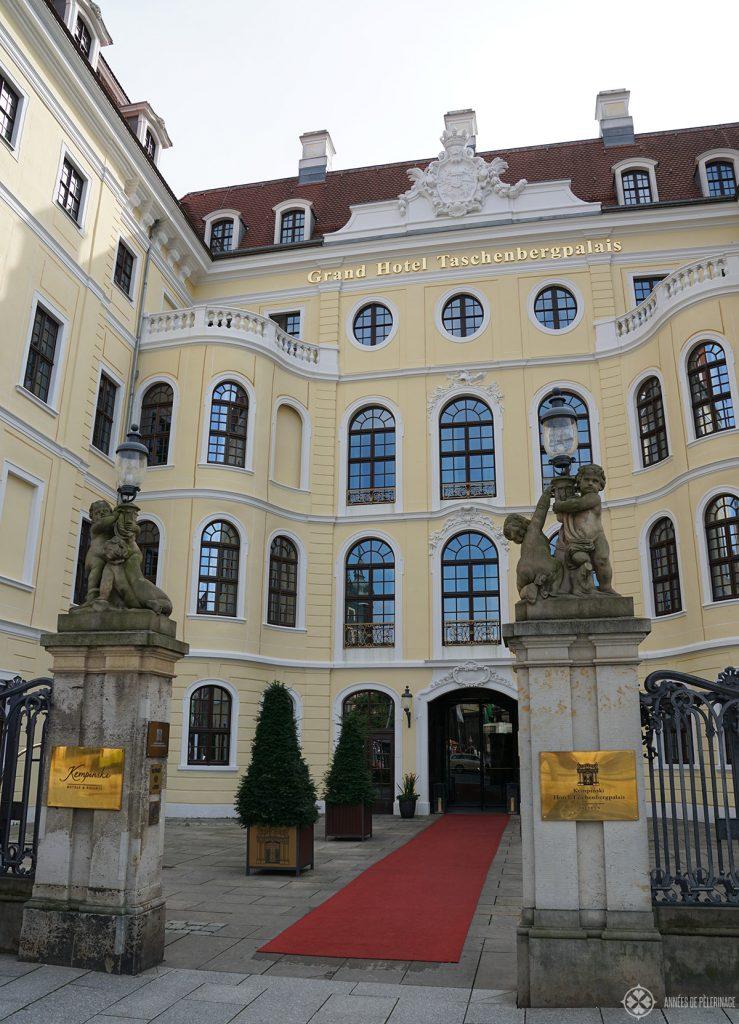 The taschenberg palais luxury hotel in Dresden. By far the best hotel in Dresden