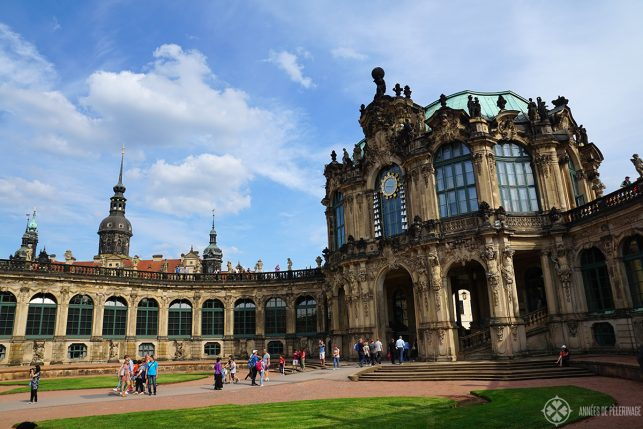 The courtyard of the Zwinger Palace in Dresden, Germany