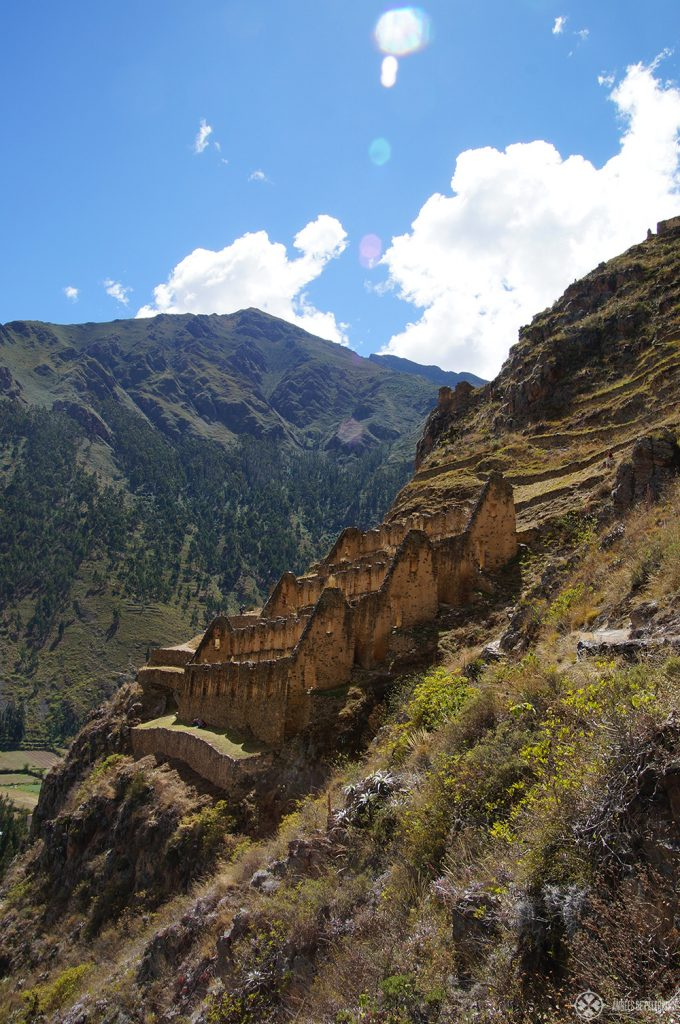 Parts of the Inca ruins in Ollantaytambo in Peru. One of my favorite things to do in Peru