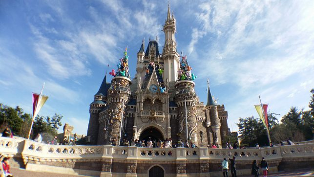 The Sleeping Beauty castle at the Tokyo Disneyland in Japan
