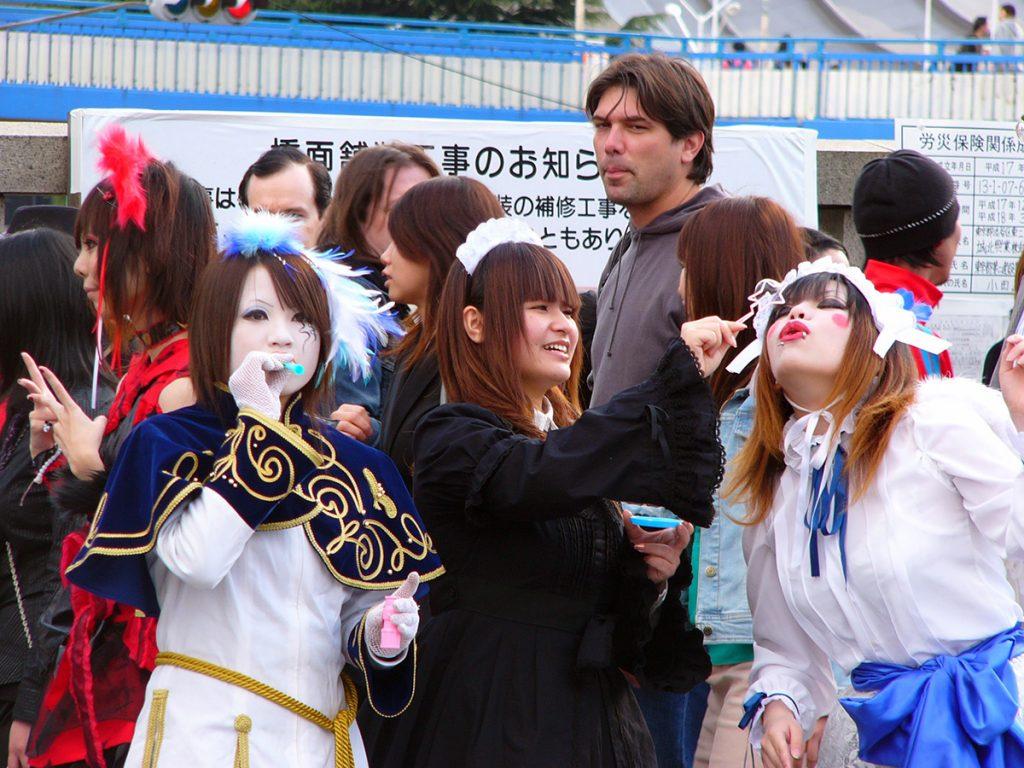 Girls dressed up very kawaii (cute) in Harajuku, Tokyo