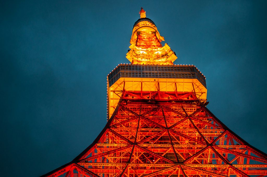 The Tokyo Tower at night - one of the main highlights in Japan's capital